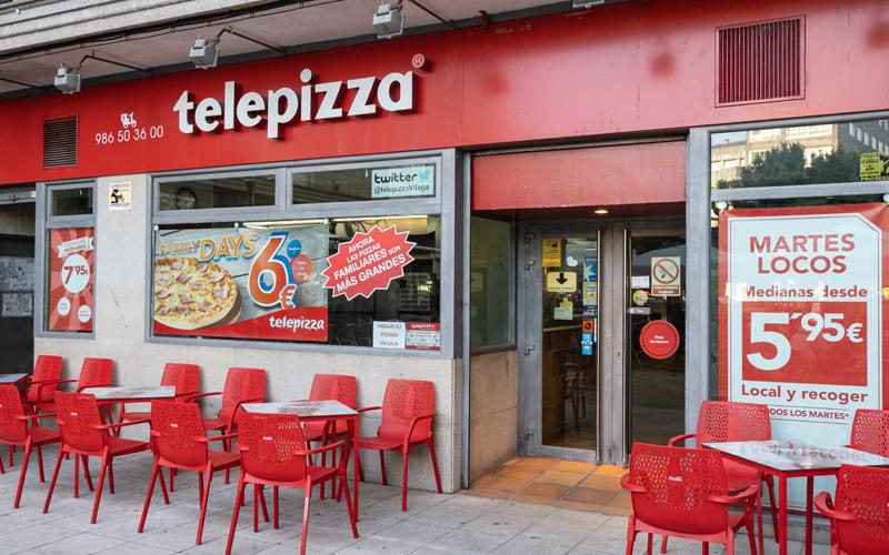 Gastronomía Vilagarcía Rápida Telepizza