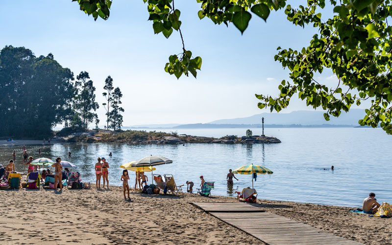 Visitar Vilagarcía, playas Bamio